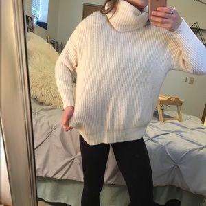 Chunky cream knit sweater